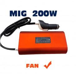 مبدل برق خودرو فندکی 200 وات میگ اینورتر12به220ولت MIG
