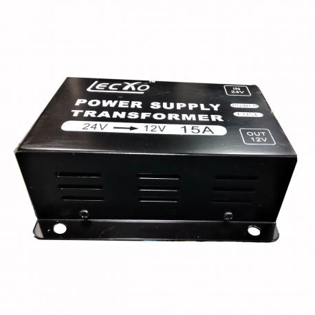 مبدل برق خودرو 24 به 12 ولت LECXO 15A